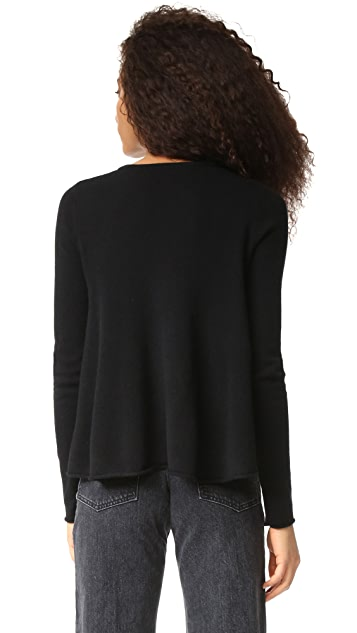 Autumn Cashmere Lace Up Flare Sweater