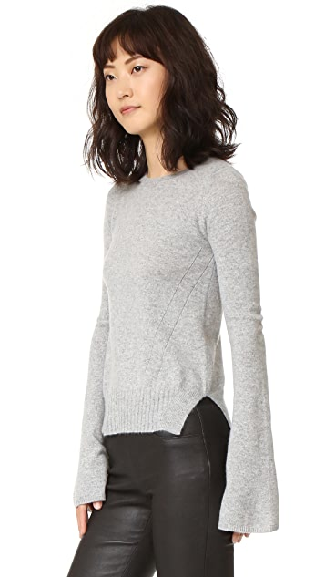 Autumn Cashmere Cashmere Bell Sleeve Sweater