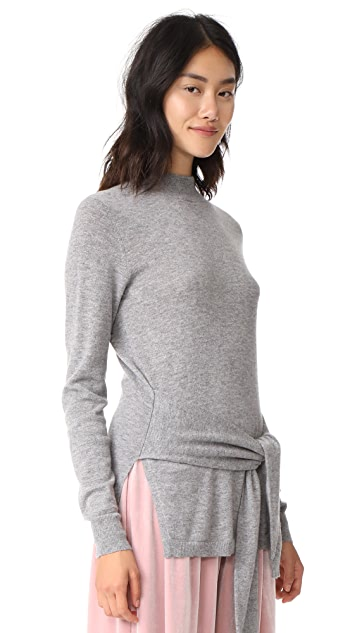 Autumn Cashmere Tie Front Sweater