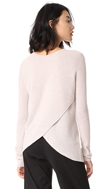 Autumn Cashmere Reversible Crossover Cashmere Sweater
