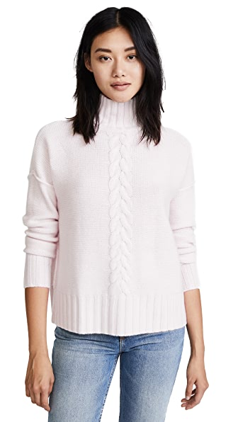 Autumn Cashmere Mock Neck Sweater In Cotton Candy
