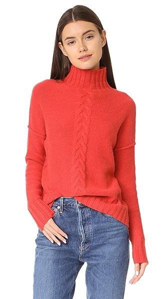 Autumn Cashmere Mock Neck Sweater - Kimchi
