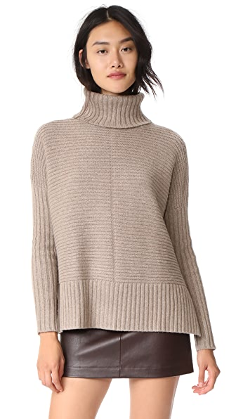 Autumn Cashmere Boxy Shaker Cowl In Taupe
