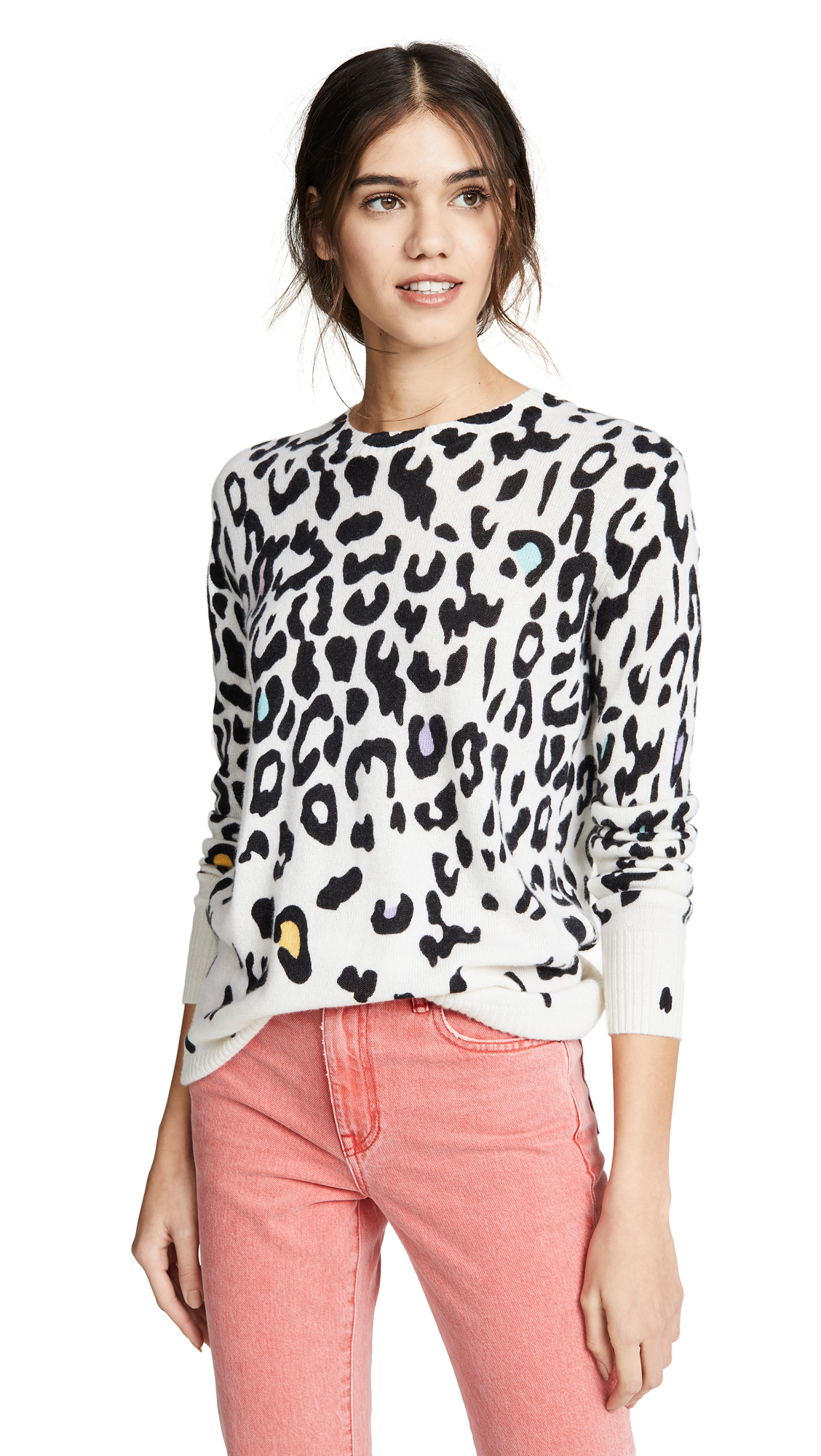 Autumn Cashmere Cashmeres Leopard Cashmere Sweater