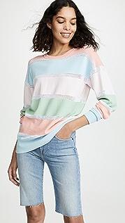 Autumn Cashmere Свободный сетчатый свитер в полоску