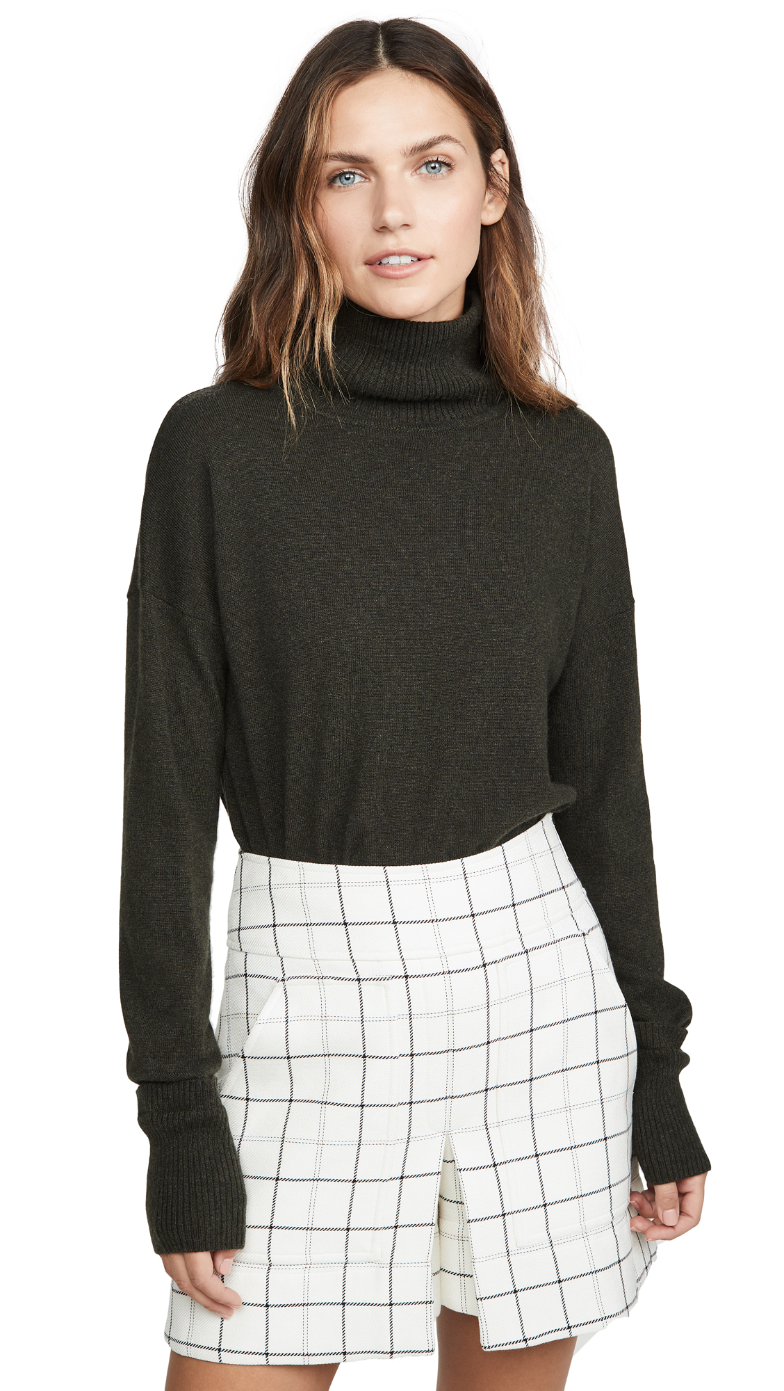 Buy Autumn Cashmere online - photo of Autumn Cashmere Relaxed Mock Neck Cashmere Sweater