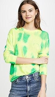 Autumn Cashmere Кашемировый свитер Blotch с округлым вырезом в мужском стиле с принтом