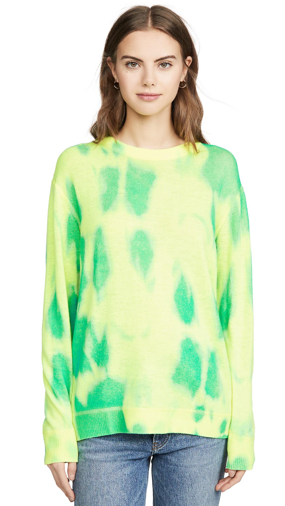 Buy Autumn Cashmere online - photo of Autumn Cashmere Cashmere Blotch Print Boyfriend Crew Sweater