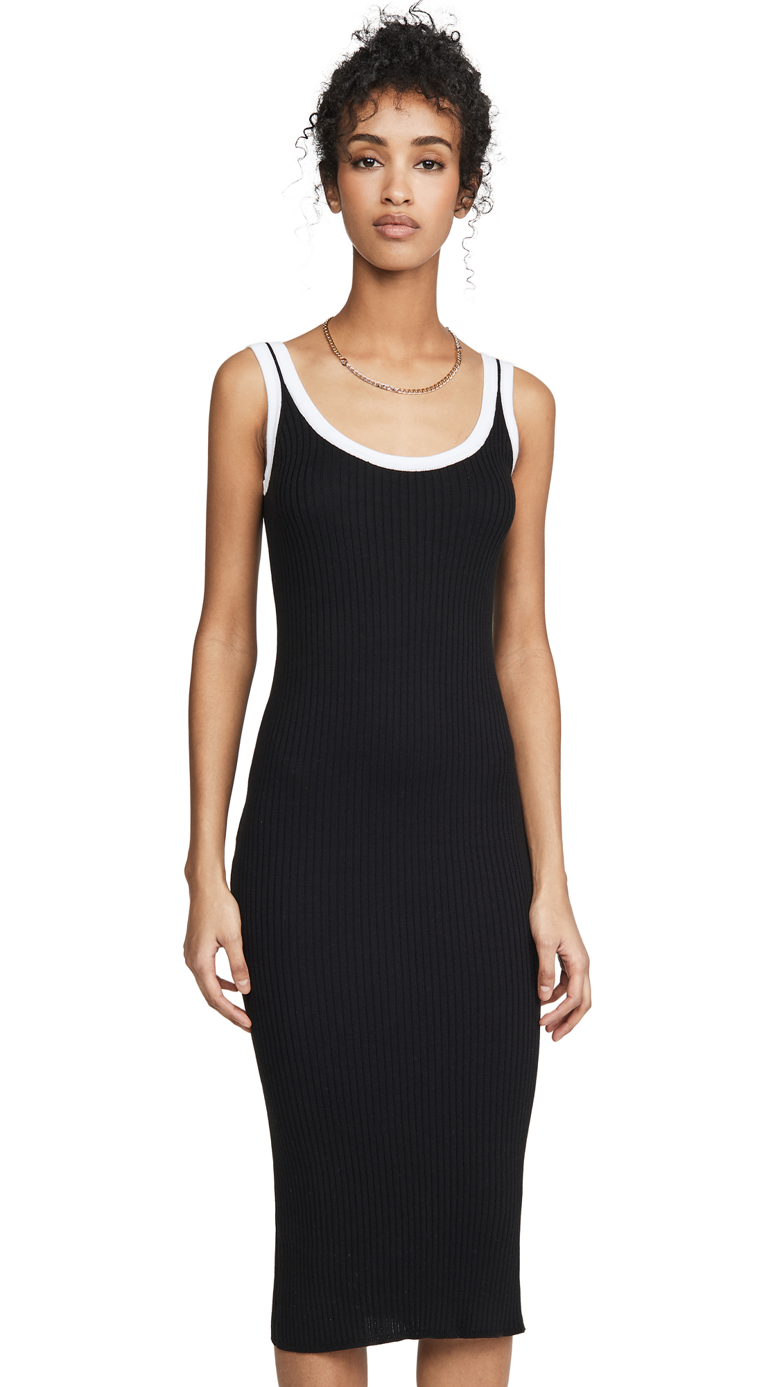 Buy Autumn Cashmere Rib Midi Tank Dress with Porthole Back online beautiful Autumn Cashmere Clothing, Dresses