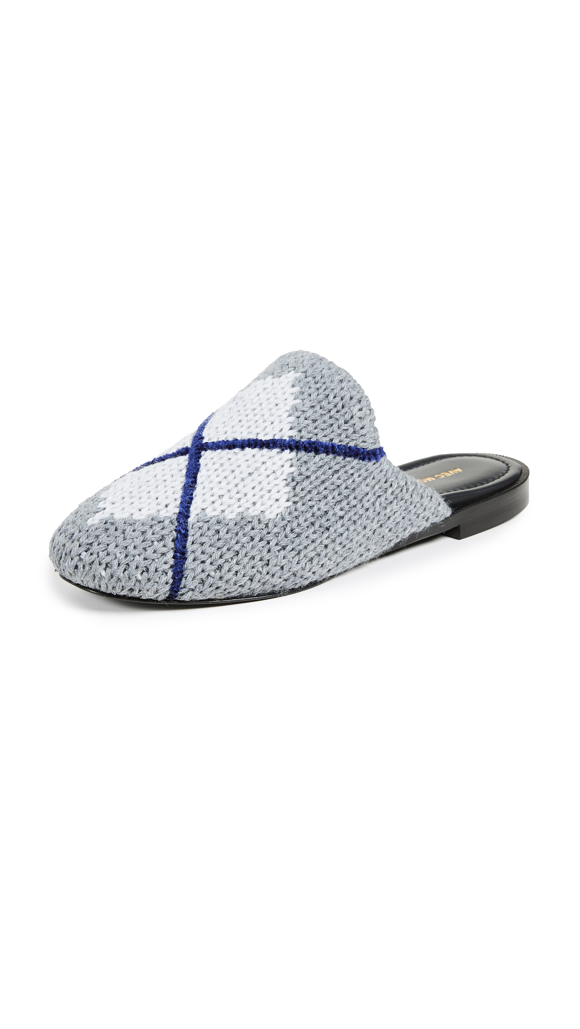 Avec Moderation Zermatt Argyle Slides - Grey