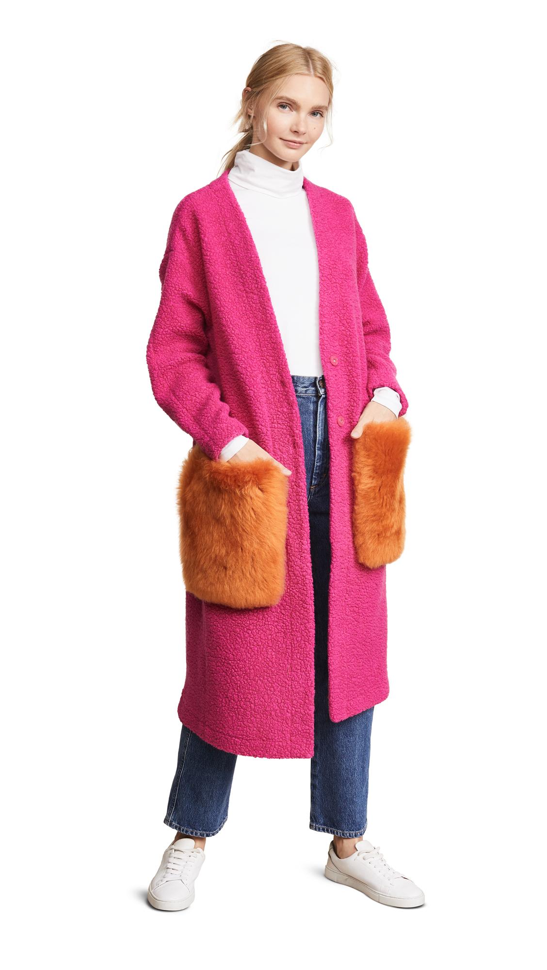 ANNE VEST May Cardigan in Pink/Orange