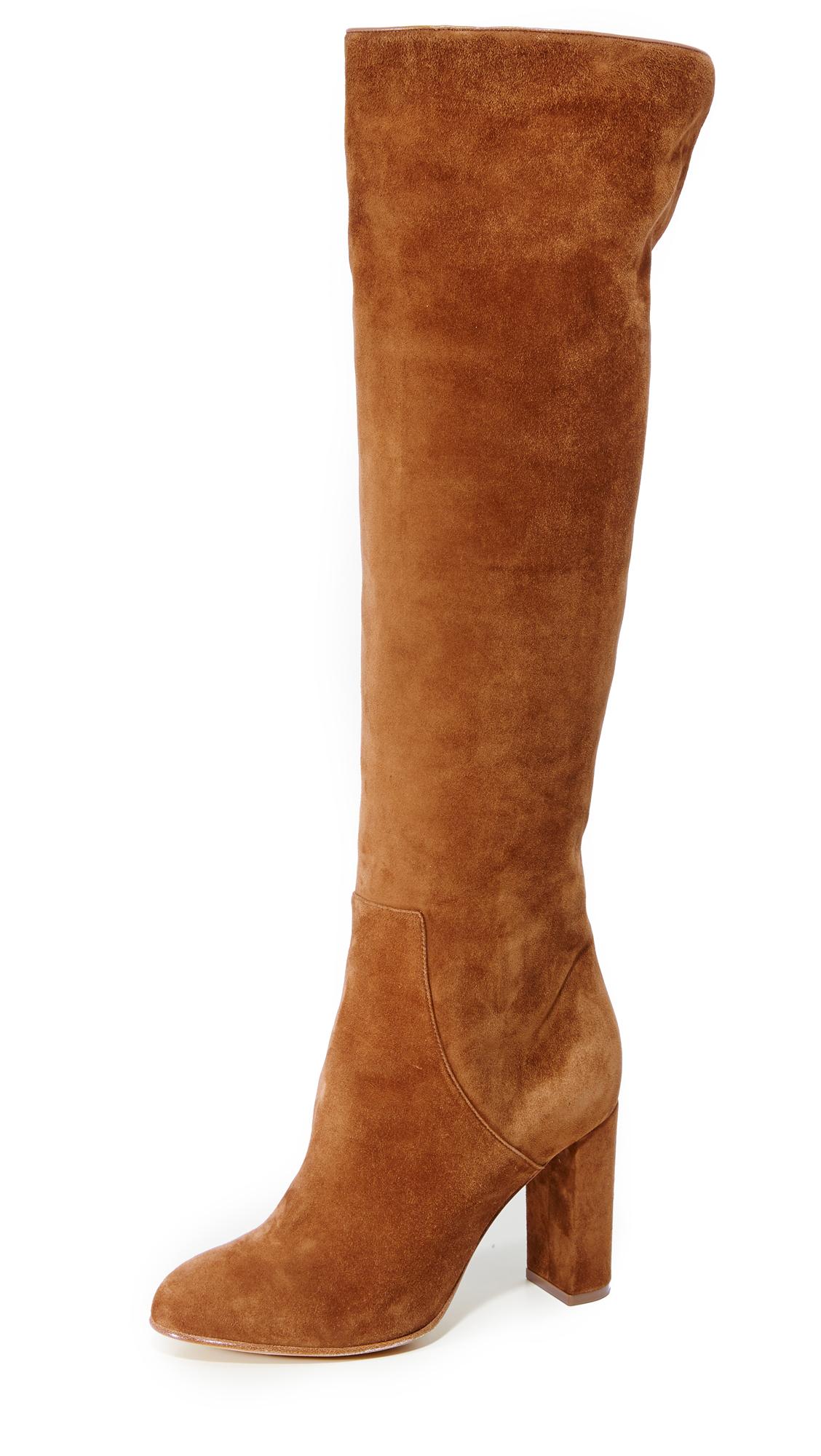 Alexa Wagner Theresa Suede Boots - Paris Texas/Tobacco