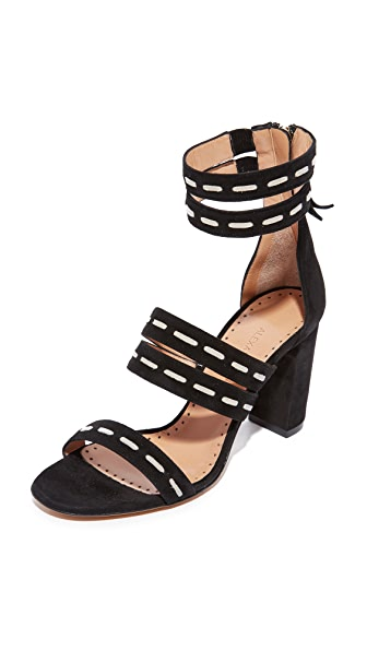 Alexa Wagner Strappy Sandals - Black/White