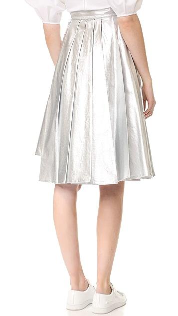 A.W.A.K.E. Pleated Asymmetrical Skirt