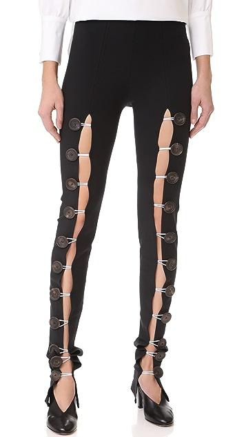 A.W.A.K.E. Buttoned Leggings