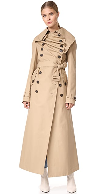 A.W.A.K.E. Long Trench Coat