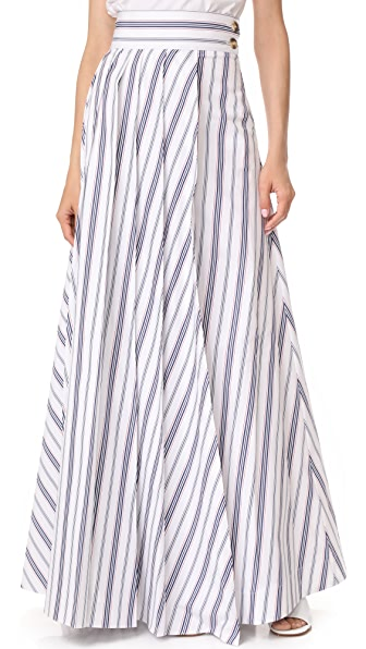 A.W.A.K.E. Long Pleat Skirt