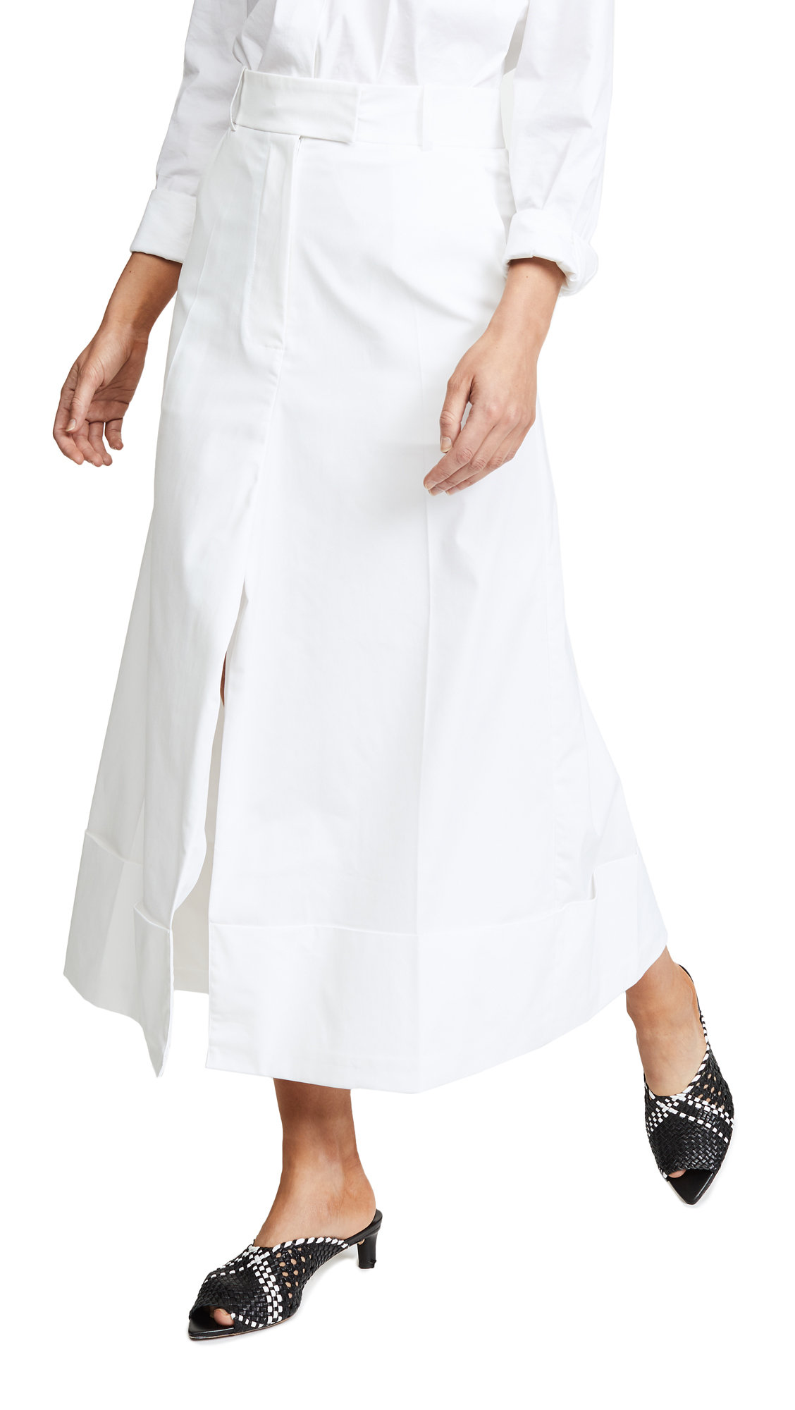 A.W.A.K.E. Pants Skirt In White