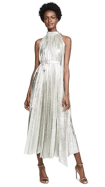 A.W.A.K.E MODE Oyster Metallic Dress