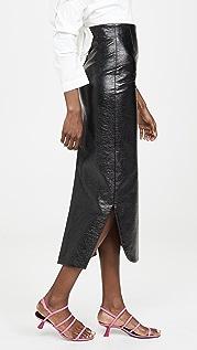 A.W.A.K.E MODE Canyon Metallic Pencil Skirt