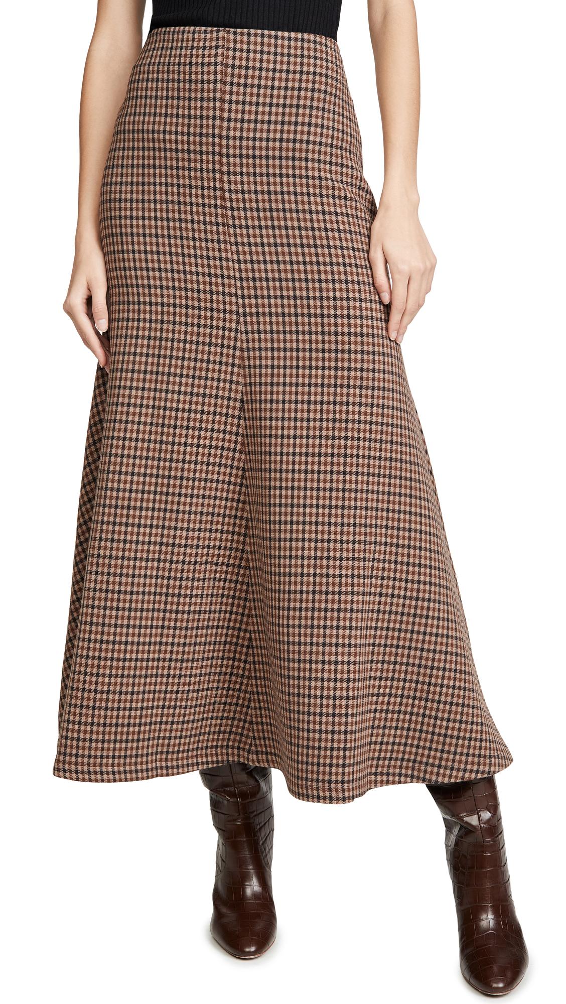 Buy A.W.A.K.E MODE online - photo of A.W.A.K.E MODE Bell Gingham Skirt