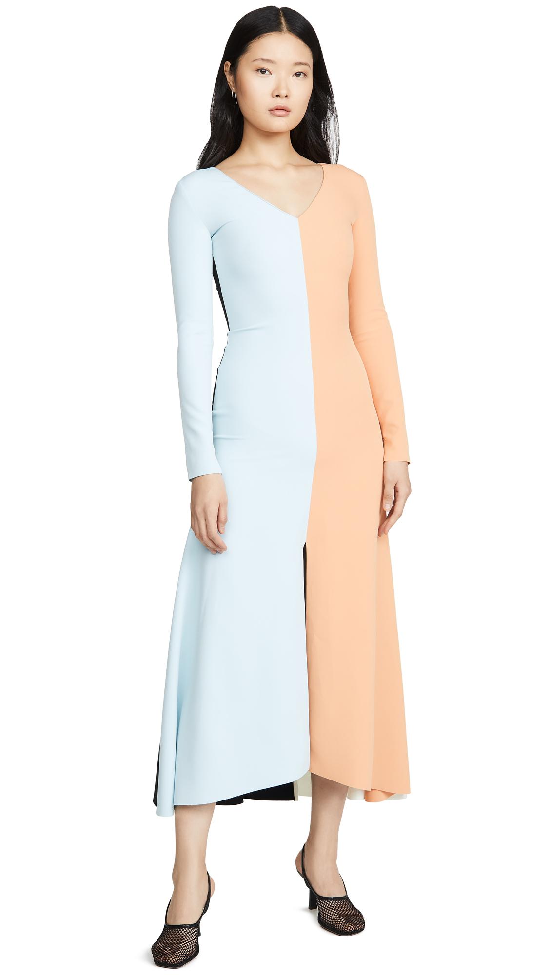 Buy A.W.A.K.E MODE Fluted Maxi Dress online beautiful A.W.A.K.E MODE Clothing, Dresses