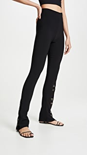 A.W.A.K.E MODE Fitted Pants With Side And Frontal Slits
