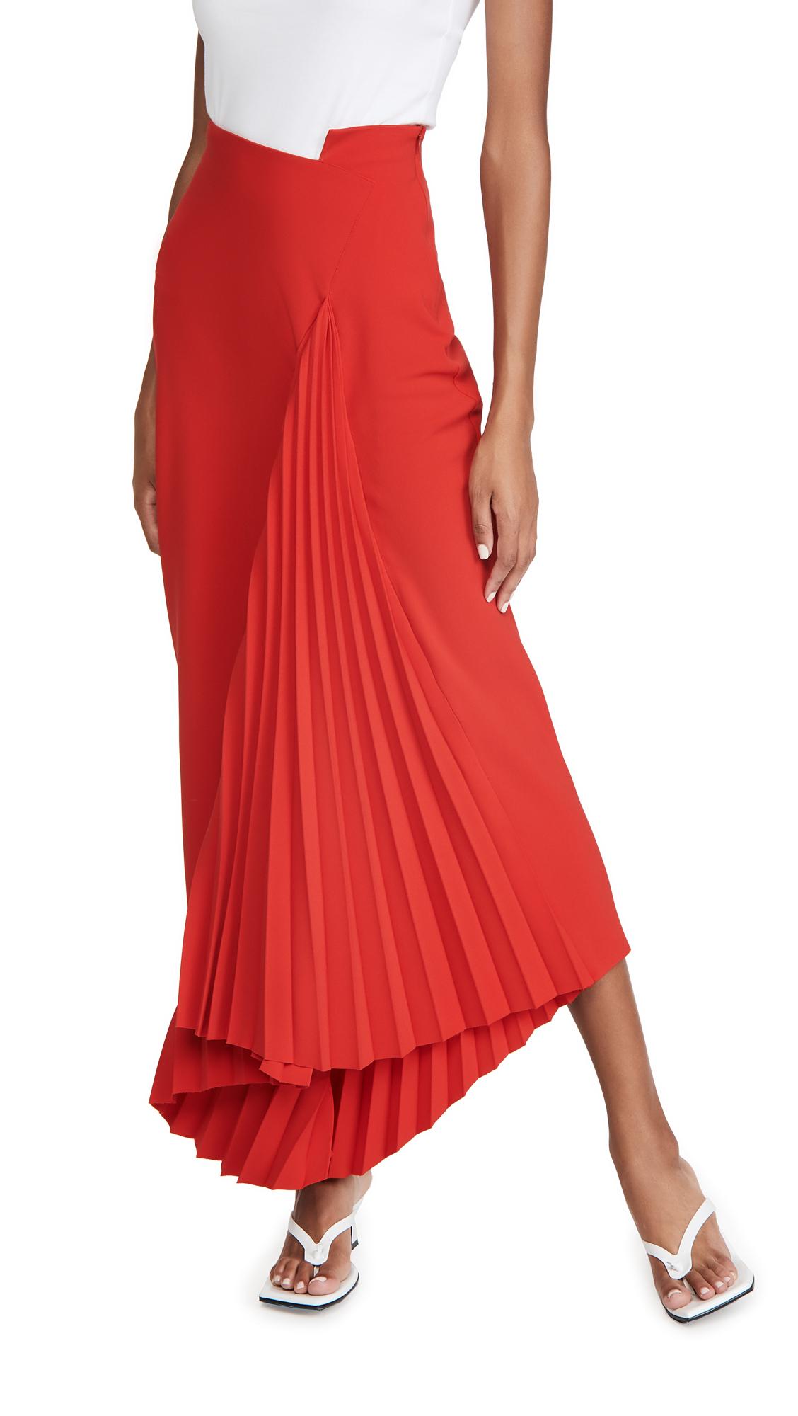 A.w.a.k.e. Pleated Maxi Skirt