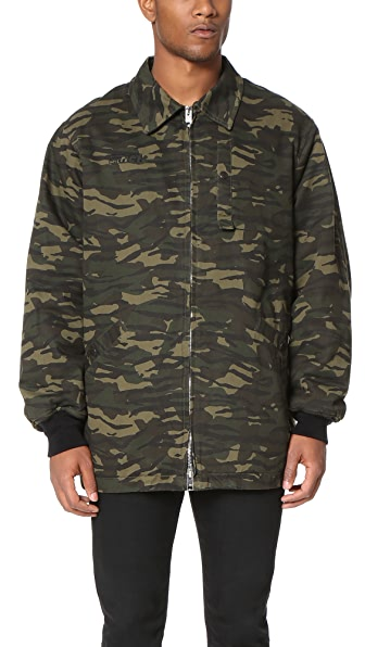 Alexander Wang Padded Zip Collared Jacket