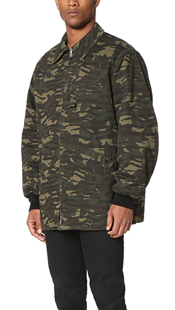 Alexander Wang Padded Zip Collared Jacket