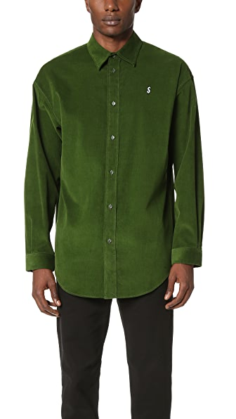 Alexander Wang Cash Embroidered Corduroy Shirt