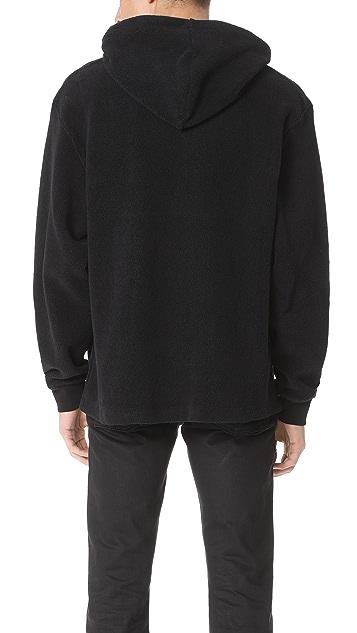 Alexander Wang Black Pile Fleece Hoodie
