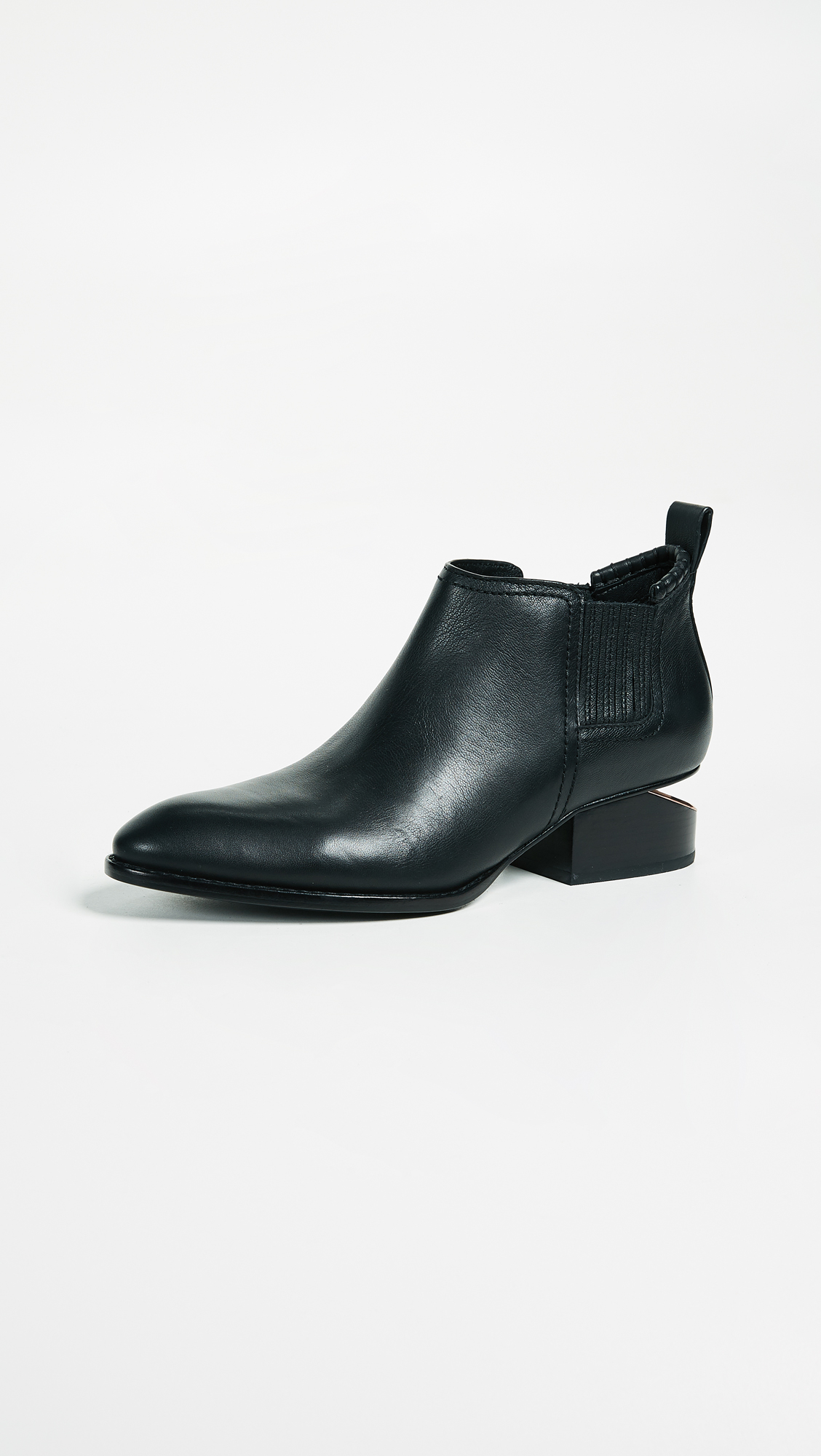 Opening Ceremony Black Floral Studded Chelsea Boots 5nsDmiw