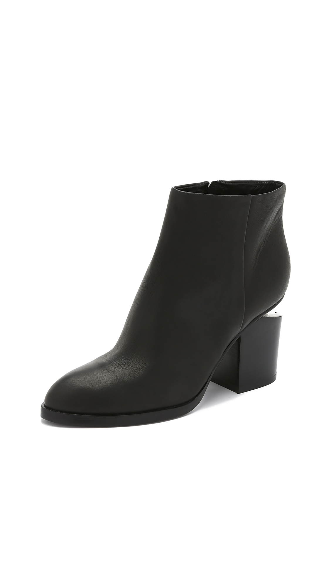Alexander Wang Gabi Booties - Black/Rhodium