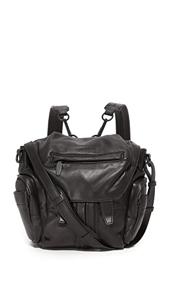 Alexander Wang Mini Marti Backpack with Covered Zips In Black