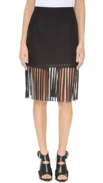 Alexander Wang Fringed Hem Miniskirt