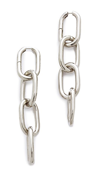 Alexander Wang Four Link Earrings - Rhodium
