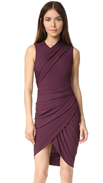 Alexander Wang Sleeveless Dress with Asymmetrical Drape