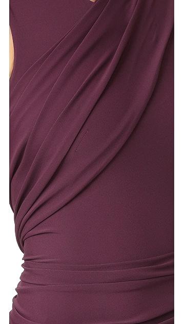 Alexander Wang Sleeveless Dress with Asymmetrical Drape