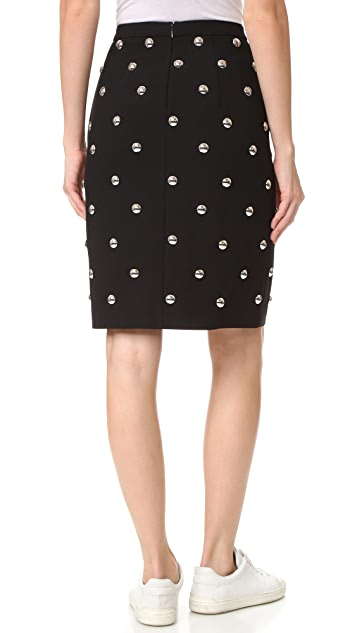 Alexander Wang Allover Studded Pencil Skirt