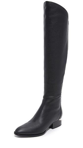 Alexander Wang Sigrid Tall Boots - Black/Rose Gold at Shopbop