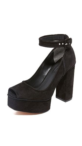 Alexander Wang Aiko Platform Sandals - Black at Shopbop