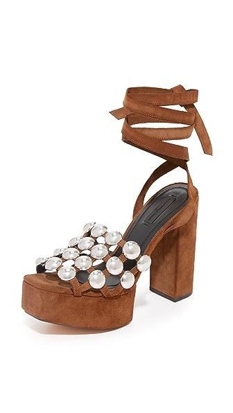 Alexander Wang Alys Platform Sandals - Nut at Shopbop