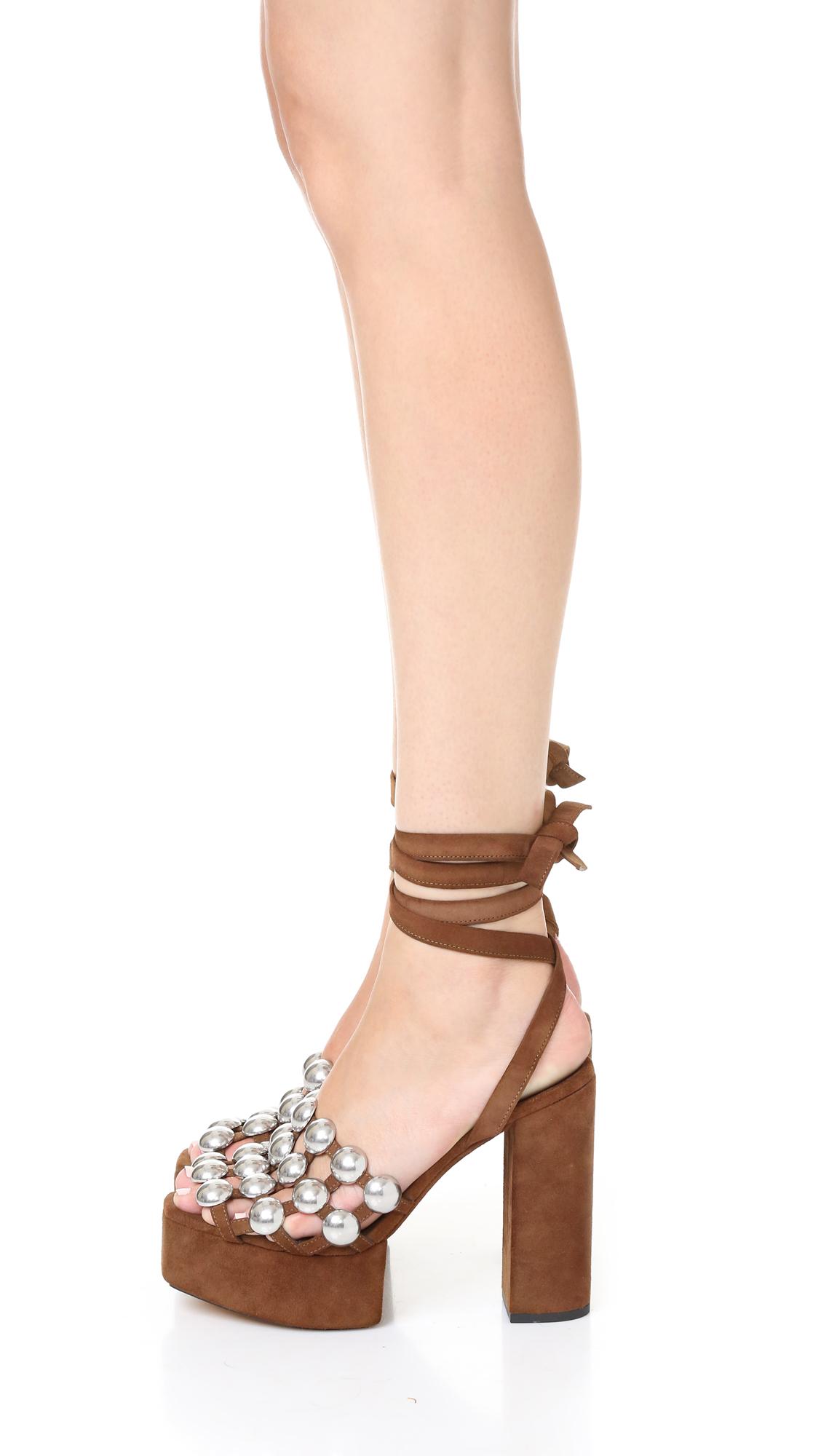 Embellished suede sandals Alexander Wang 4uCcPoqlAv