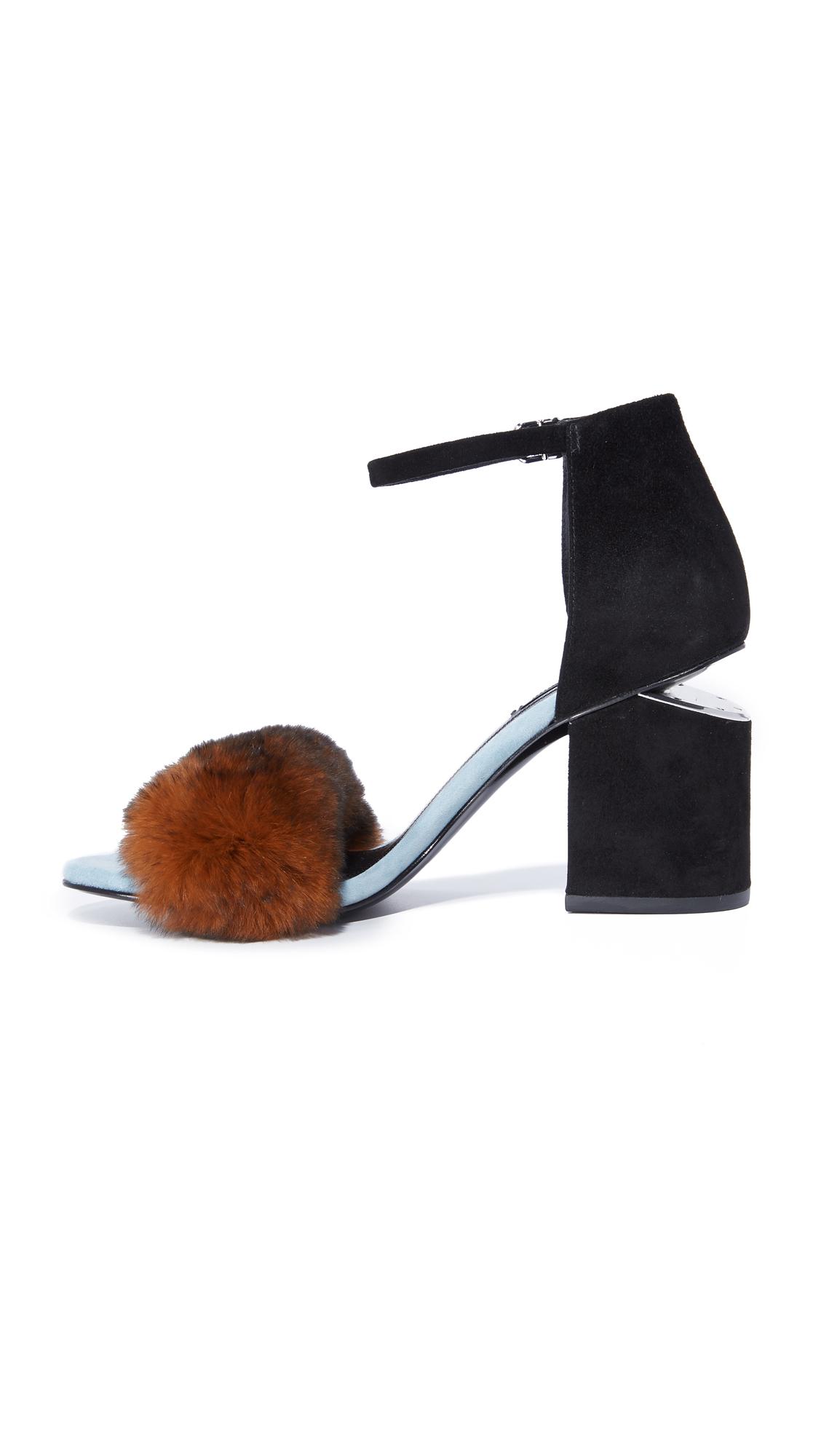 a10123ba09ee Alexander Wang Abby Fur Sandals