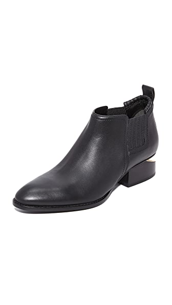 Alexander Wang Kori Ankle Booties - Black/Yellow Gold
