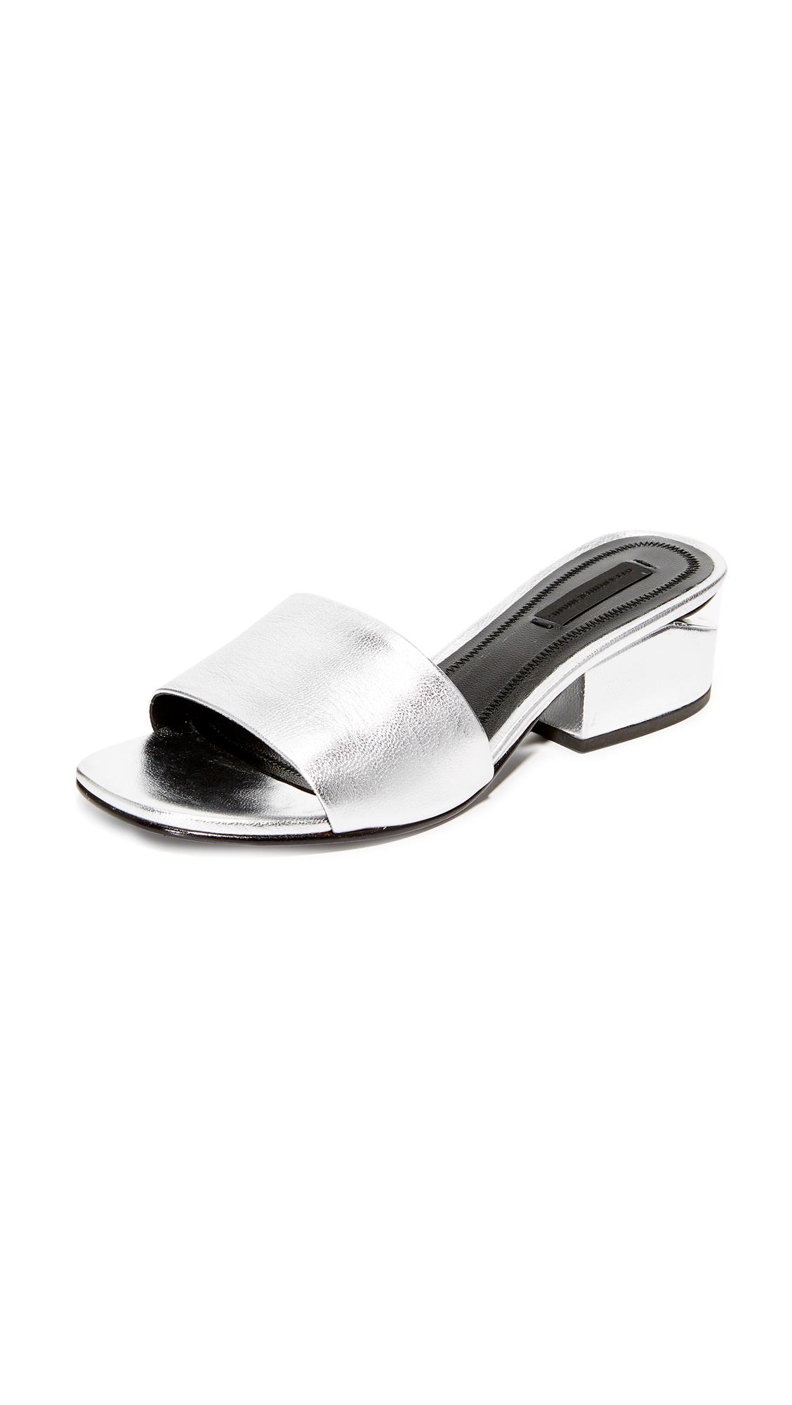 Alexander Wang Lou Mules - Silver/Rhodium at Shopbop