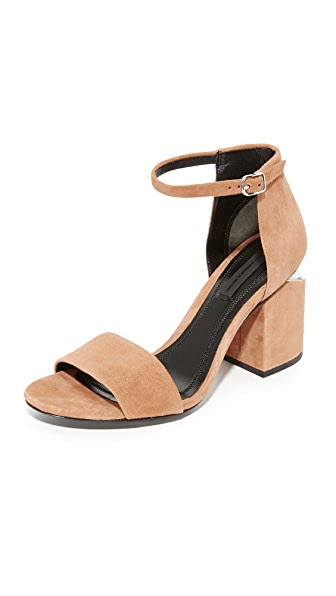 Alexander Wang Abby Sandals - Clay/Rhodium