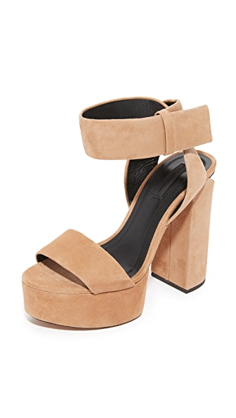 Alexander Wang Keke Platform Sandals - Clay/Rhodium