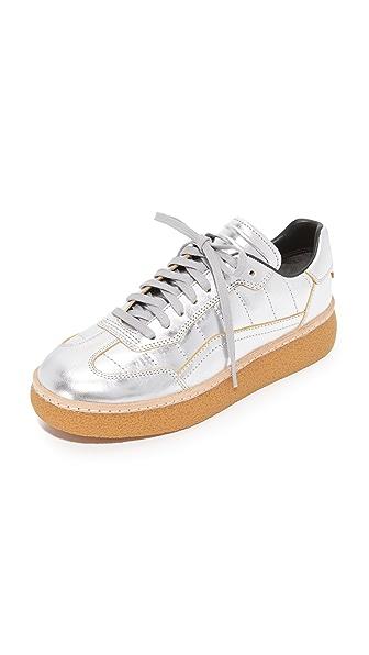 Alexander Wang Eden Platform Sneakers - Silver